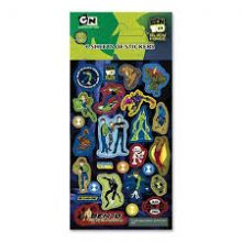 Ben 10 Alien Force Party Pack Stickers - 6 sheets